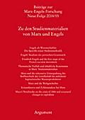 Beiträge zur Marx-Engels-Forschung Neue Folge 2014/15 - Zu den Studienmaterialien von Marx und Engels