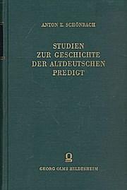Studien zur Geschichte der Altdeutschen Predigt