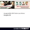 Die Zeit Audio, Ausgewählte ZEIT Texte zum Hören Nr. 8, 1 Audio-CD