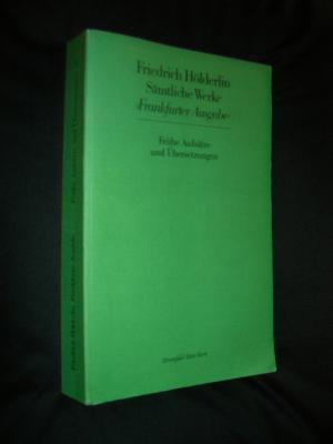 Sämtliche Werke. Frankfurter Ausgabe. Historisch-Kritische Ausgabe / Frühe Aufsätze und Übersetzungen