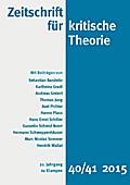 Zeitschrift fur kritische Theorie: 21. Jahrga ...
